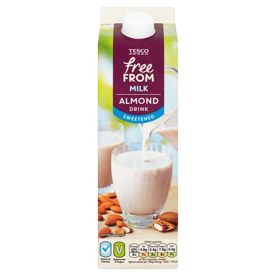 Tesco Free From Fresh Sweetened Almond Milk Alternative 1 Litre