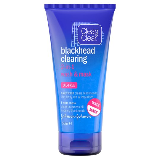 Clean And Clear Blackhead 2 In 1 Wash Mask