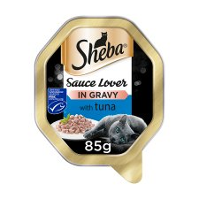 Sheba Sauce Lover Tuna Cat Food Tray 85G