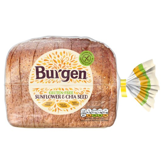 Burgen Free From Sunflower And Chia Seed Bread 500G