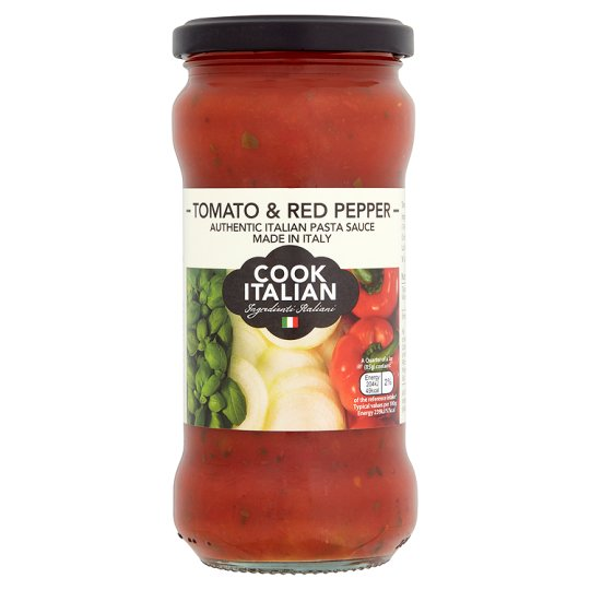 Cook Italian Tomato And Red Pepper Pasta Sauce 340G