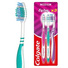 Colgate Toothbrush Zigzag Flexible Medium Triple Pack