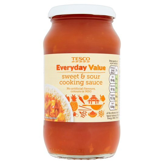 Tesco Everyday Value Sweet And Sour Sauce 440G