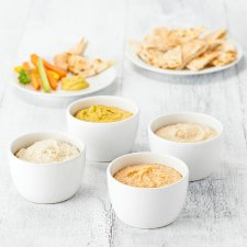 image 1 of Tesco Easy Entertaining Houmous Dip Selection 746G Serves 16