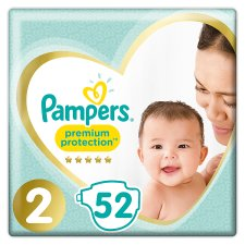 Pampers Premium Protection Essential Pack Size 2 52 Nappies