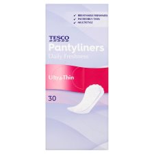 Tesco Ultra Thin Panty Liners 30 Pack