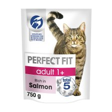 Perfect Fit 1+ Salmon Dry Cat Food 750G