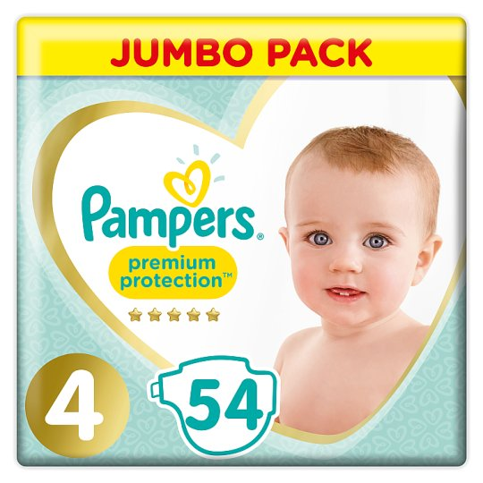 image 1 of Pampers Premium Protection Size 4 Jumbo Pack 54 Nappies