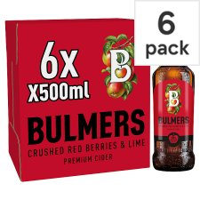 Bulmers Red Berries And Lime Cider 6X500ml Bottle