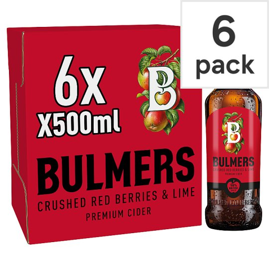 Bulmers Crushed Red Berries And Lime 6X500ml