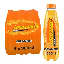 Lucozade Energy Orange 6 X 380Ml Pack