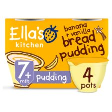 image 1 of Ellas Kitchen Banana And Vanilla Bread Pudding 4X80g