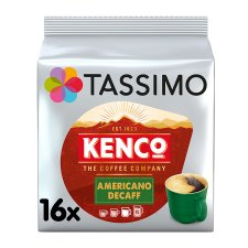Tassimo Kenco Americano Decaffeinated Coffee Pods X16