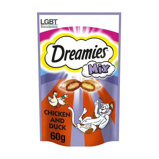 image 1 of Dreamies Mix Chicken And Duck Cat Treats 60G