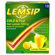 Lemsip Cold And Flu Lemon Sachets X 10