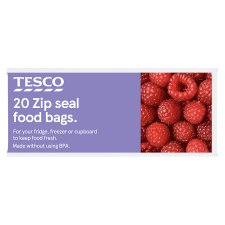 Tesco Zip Seal Food And Freezer Bags Medium 20S