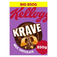 Kelloggs Krave Milk Chocolate Cereal 850G
