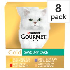 Gourmet Gold Savoury Cake Meat 8X85g