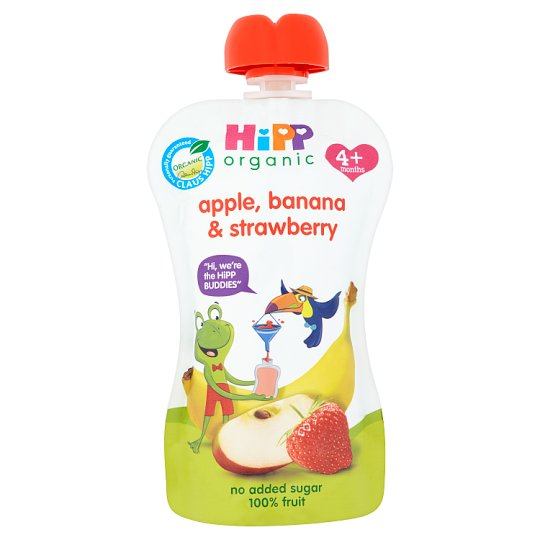 Hipp Organic Apple, Strawberry And Banana 100G