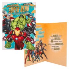 Hallmark Birthday Card Super Hero Marvel Avengers