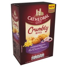 Cathedral City Crumbly Bites Cheddar And Red Onion 100G