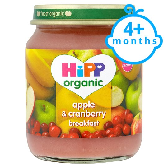 Hipp 4 Month Organic Apple And Cranberry Breakfast 125G