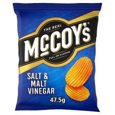 Mccoy's Salt And Vinegar Crisps 47.5 G