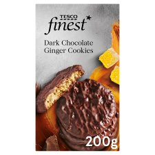 Tesco Finest Dark Chocolate Ginger Cookies 200G