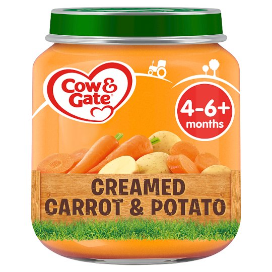 image 1 of Cow & Gate Creamed Carrot And Potato 4 Month+ 125G Jar