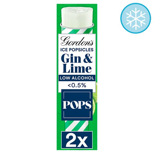 Pops Gordons Ice Popsicles Gin And Lme 2X80ml