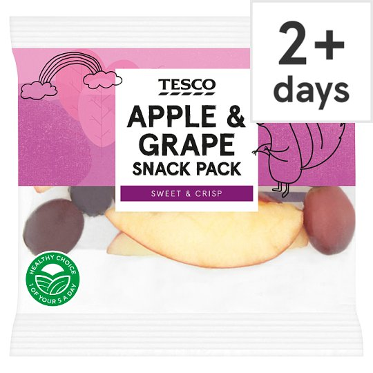 image 1 of Tesco Apple And Grape Snack Pack 80G