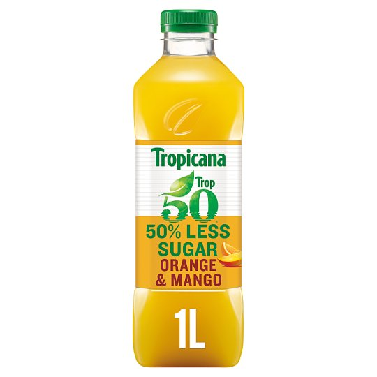 Tropicana Trop 50 Orange And Mango Juice Drink 1Ltr