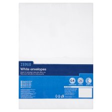 Tesco White C4 Envelopes 25Pk