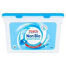 Tesco Non Biological Laundry Capsules 20 Washes 490Ml