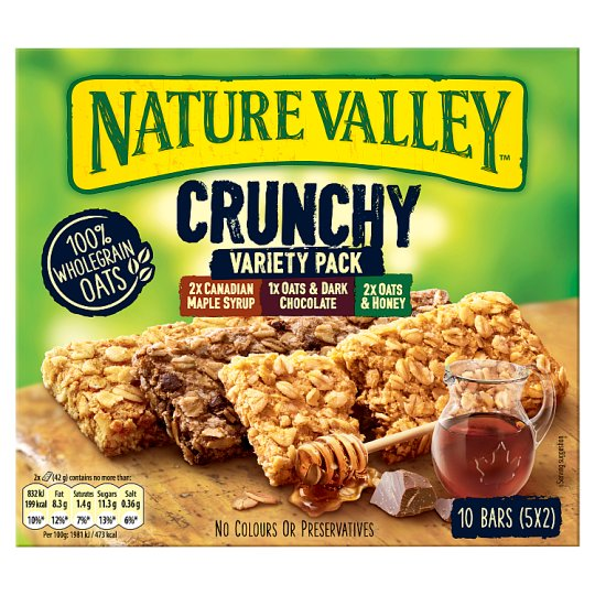 image 1 of Nature Valley Crunchy Granola Variety Bars 5X42g