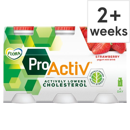 Flora Pro.Activ Strawberry Yoghurt Mini Drink 6X100ml