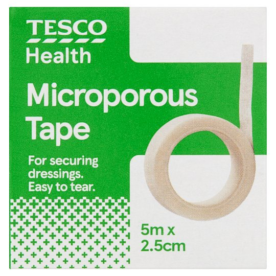 Tesco Microporous Tape 5Mx2.5Cm