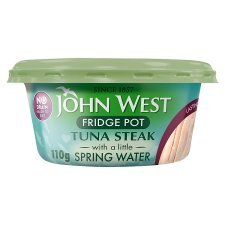 John West No Drain Tuna Fridge Pot Springwater 110G