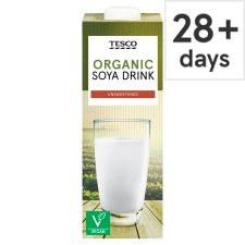 Tesco Organic Soya Unsweetened Longlife Milk Alternative 1 Litre