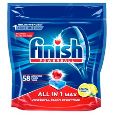 Finish All In One Max Lemon 58 Dishwasher Tablets