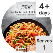 Tesco Finest Crab And Chilli Linguine 350G
