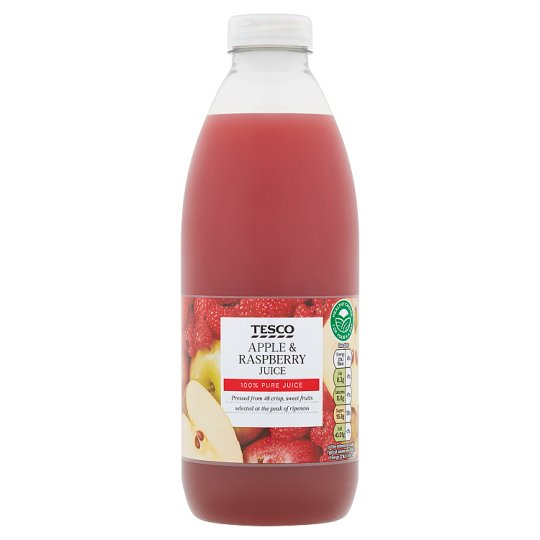 Tesco 100% Pure Pressed Apple And Raspberry Juice 1L