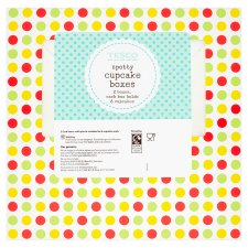 Tesco Spotty Cupcake Boxes 2 Pack