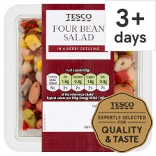 Tesco Four Bean And Mint Salad 250G