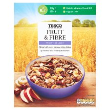 Tesco Fruit & Fibre Cereal 750G