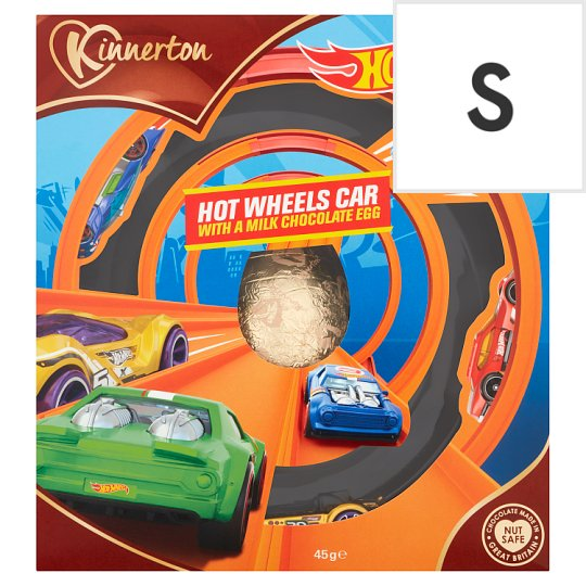 Hot Wheels Milk Chocolate Easter Egg And Toy Gift 45G