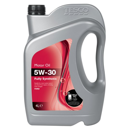 Tesco 5W30 Fully Synthetic Oil Ford 4L