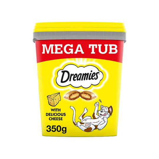 image 1 of Dreamies Bulk Cheese Cat Treats Tub 350G