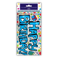 Tesco Happy Birthday Blue Banner