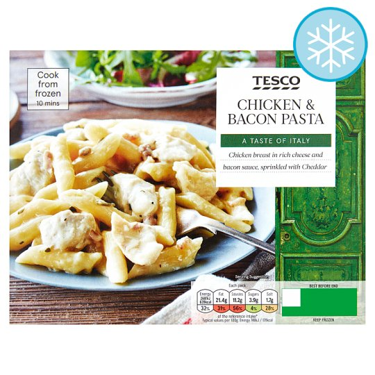 Tesco Chicken And Bacon Pasta 400G